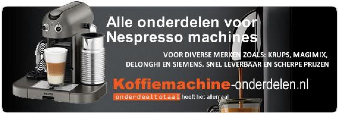 Nespresso machine onderdelen